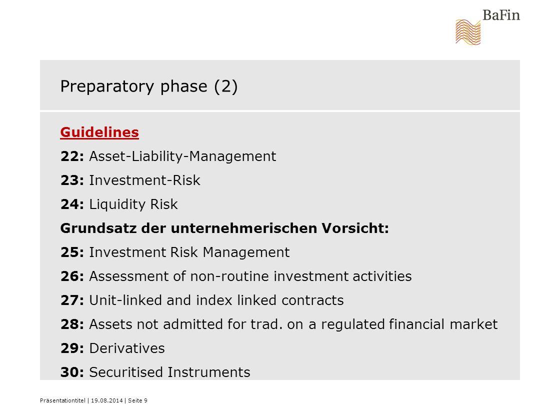Preparatory phase (2)