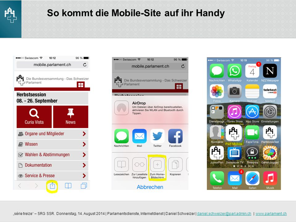 So kommt die Mobile-Site auf ihr Handy