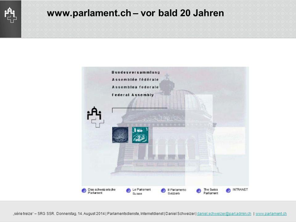 www.parlament.ch – vor bald 20 Jahren