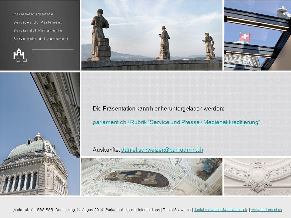 Auskünfte: daniel.schweizer@parl.admin.ch