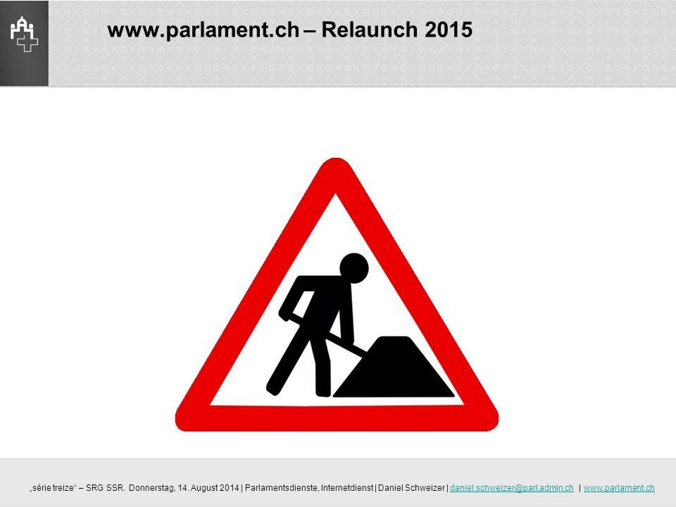www.parlament.ch – Relaunch 2015