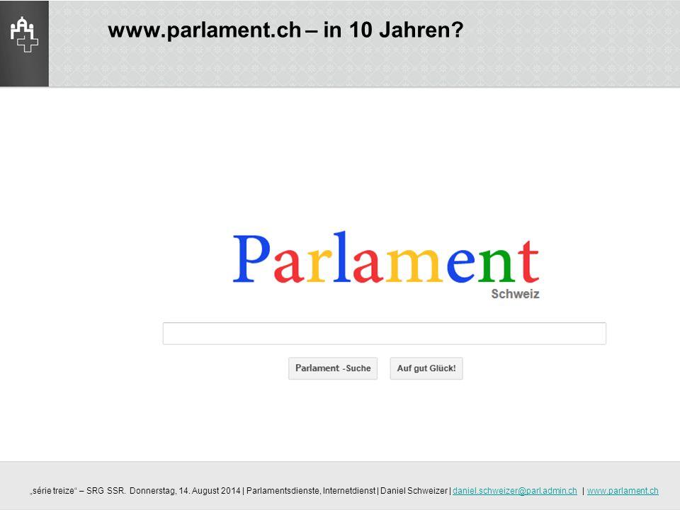 www.parlament.ch – in 10 Jahren