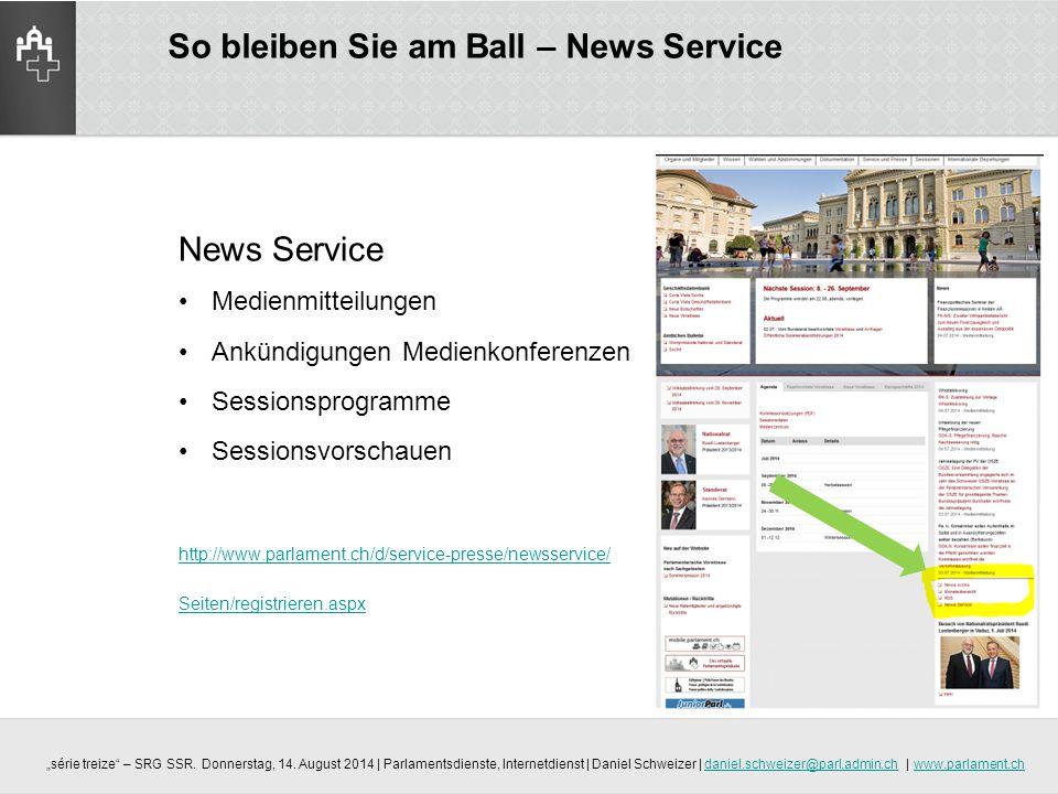 So bleiben Sie am Ball – News Service