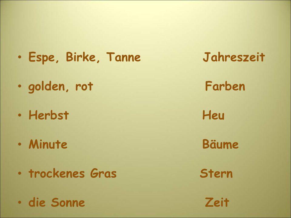 Espe, Birke, Tanne Jahreszeit
