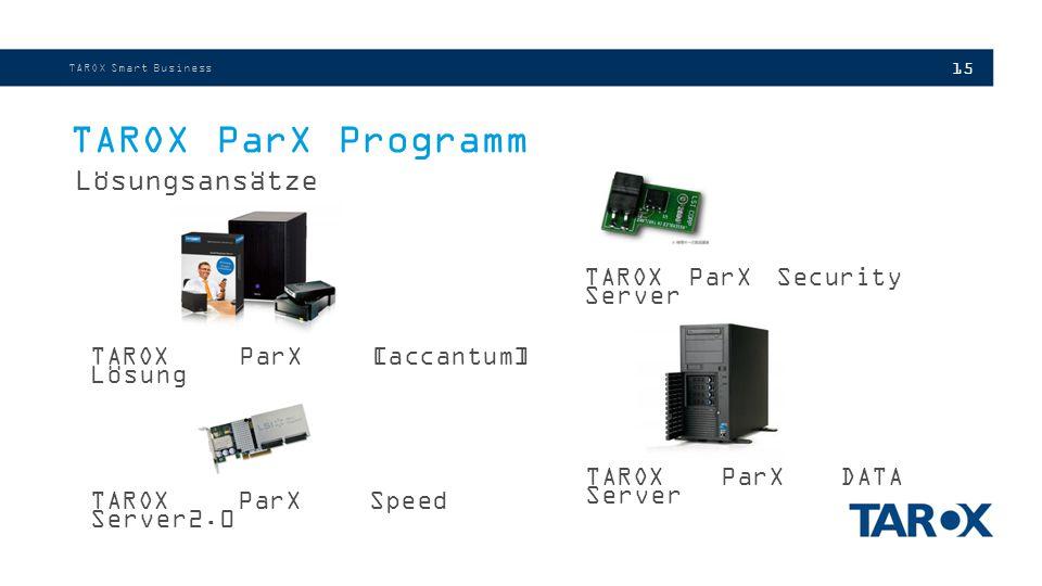 TAROX ParX Programm Lösungsansätze TAROX ParX Security Server