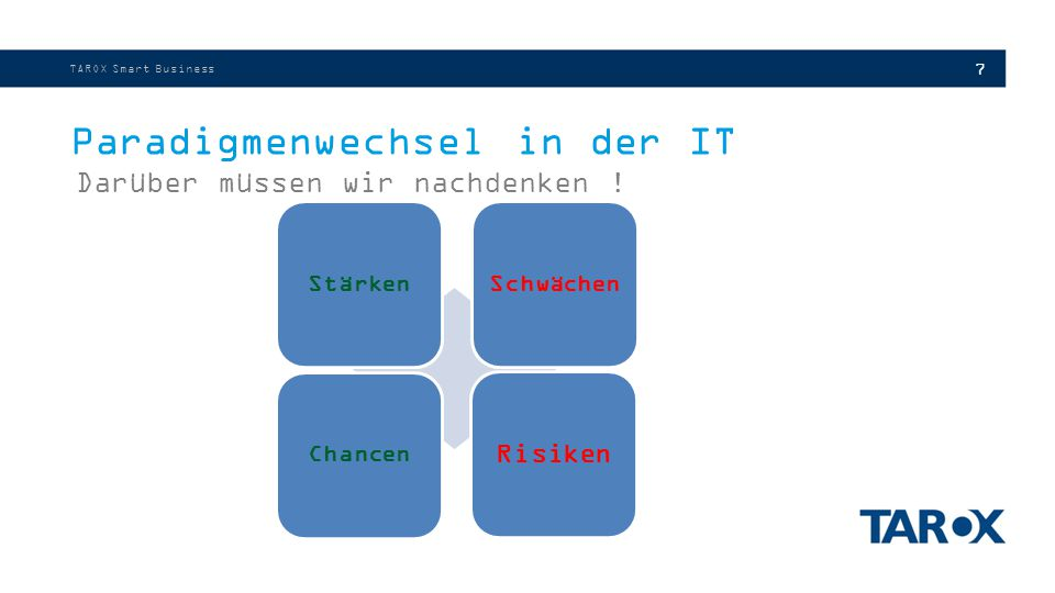 Paradigmenwechsel in der IT