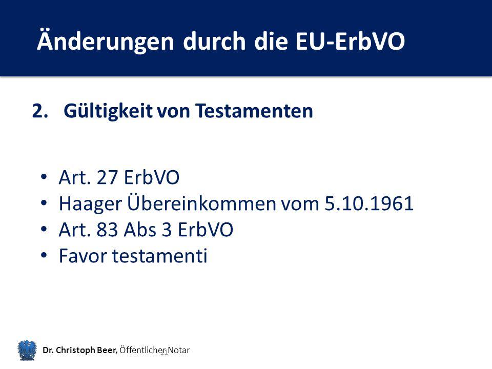 Änderungen durch die EU-ErbVO