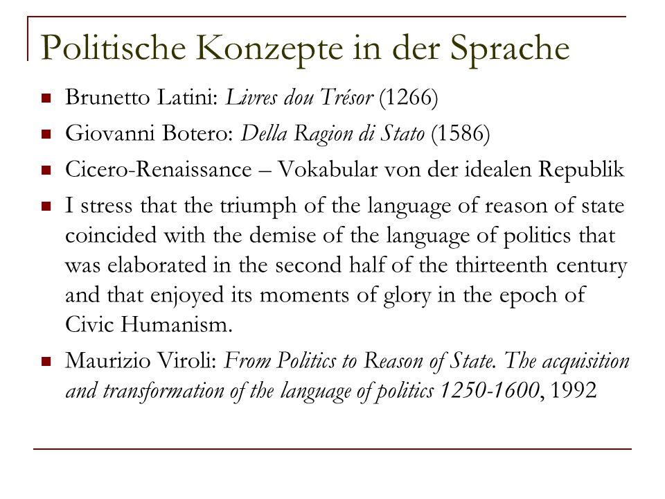 Politische Konzepte in der Sprache