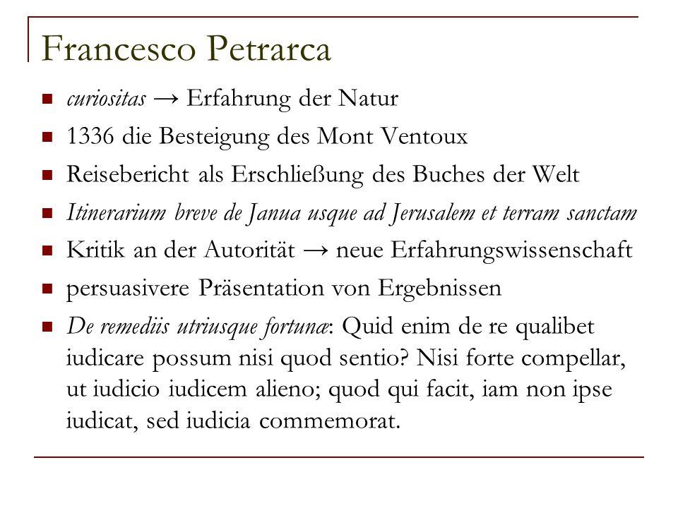 Francesco Petrarca curiositas → Erfahrung der Natur