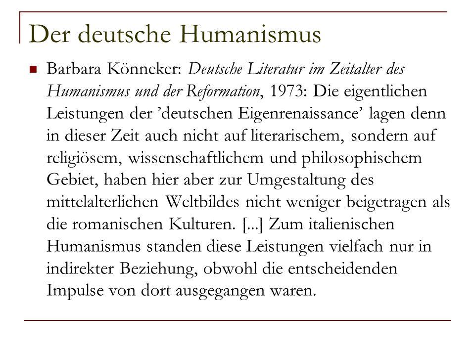 Der deutsche Humanismus