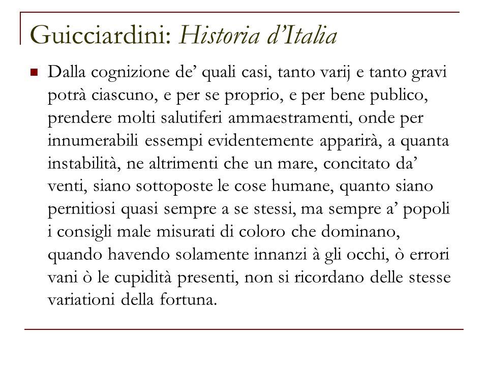 Guicciardini: Historia d'Italia