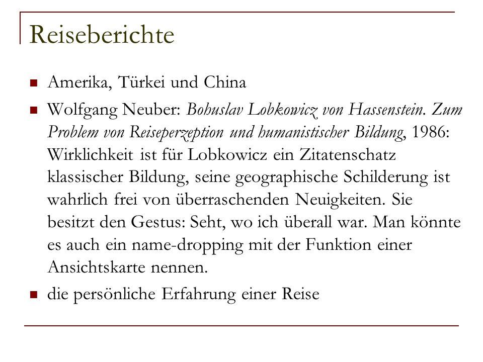 Reiseberichte Amerika, Türkei und China