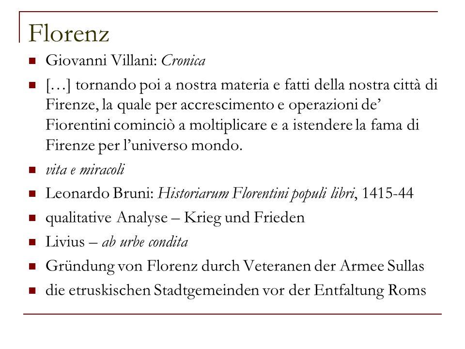 Florenz Giovanni Villani: Cronica