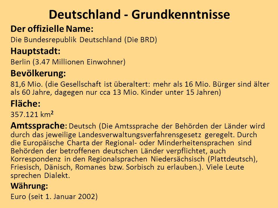 Deutschland - Grundkenntnisse