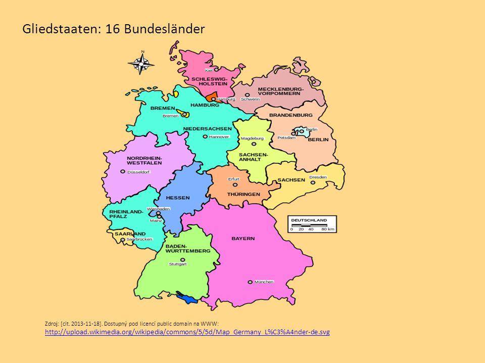 Gliedstaaten: 16 Bundesländer
