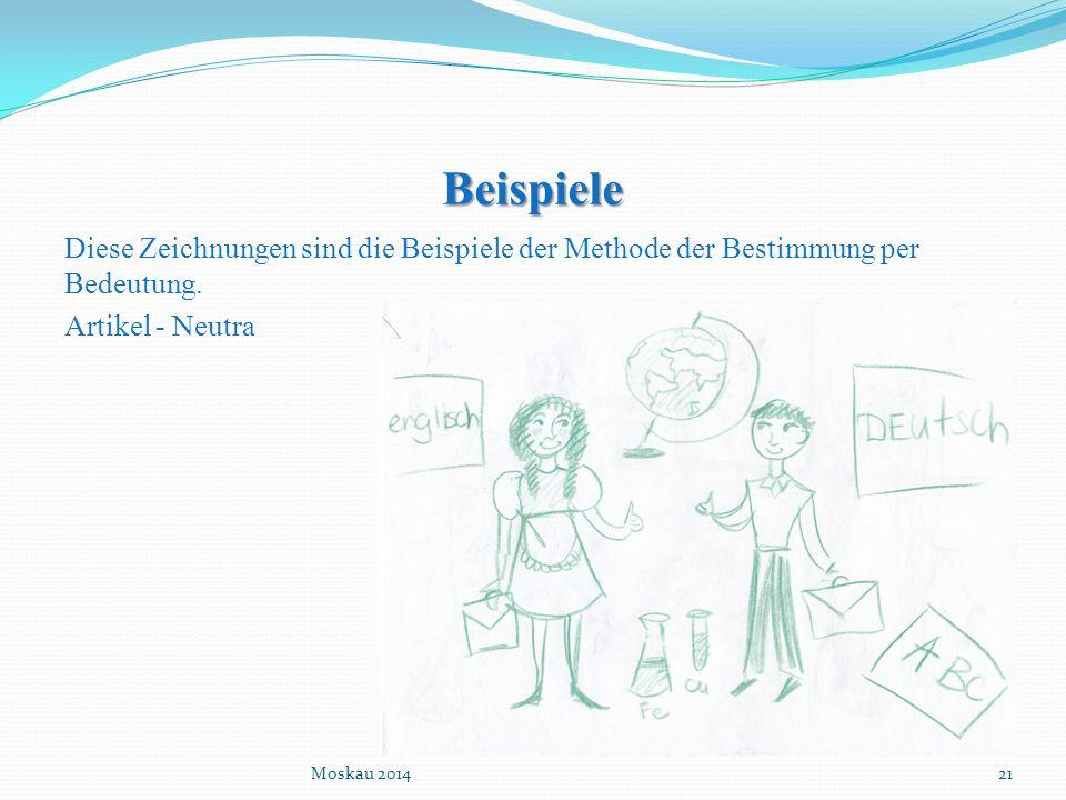 Beispiele Diese Zeichnungen sind die Beispiele der Methode der Bestimmung per Bedeutung. Artikel - Neutra
