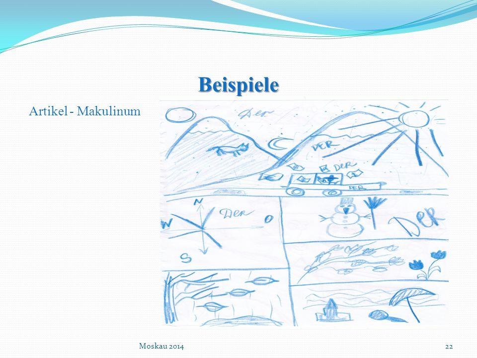 Beispiele Artikel - Makulinum Moskau 2014