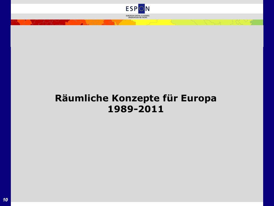 Räumliche Konzepte für Europa 1989-2011