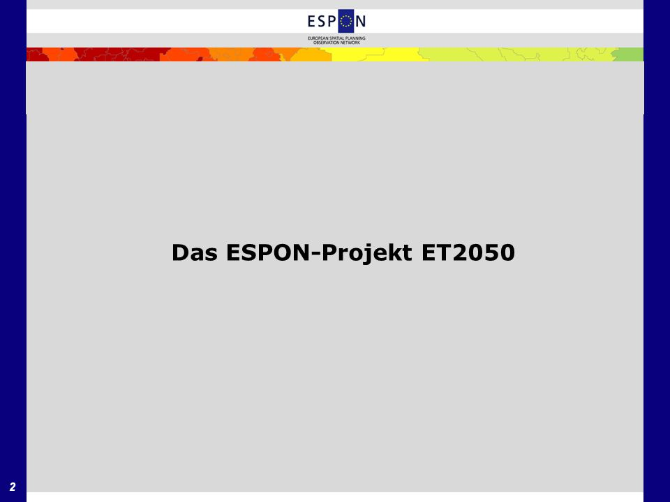 Das ESPON-Projekt ET2050