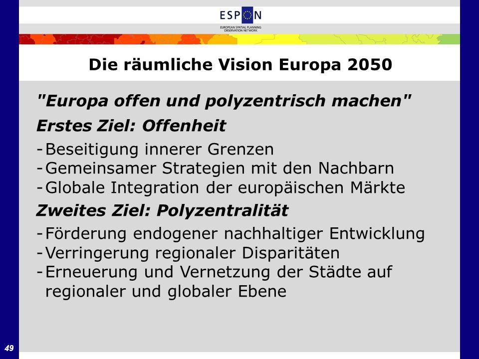 Die räumliche Vision Europa 2050
