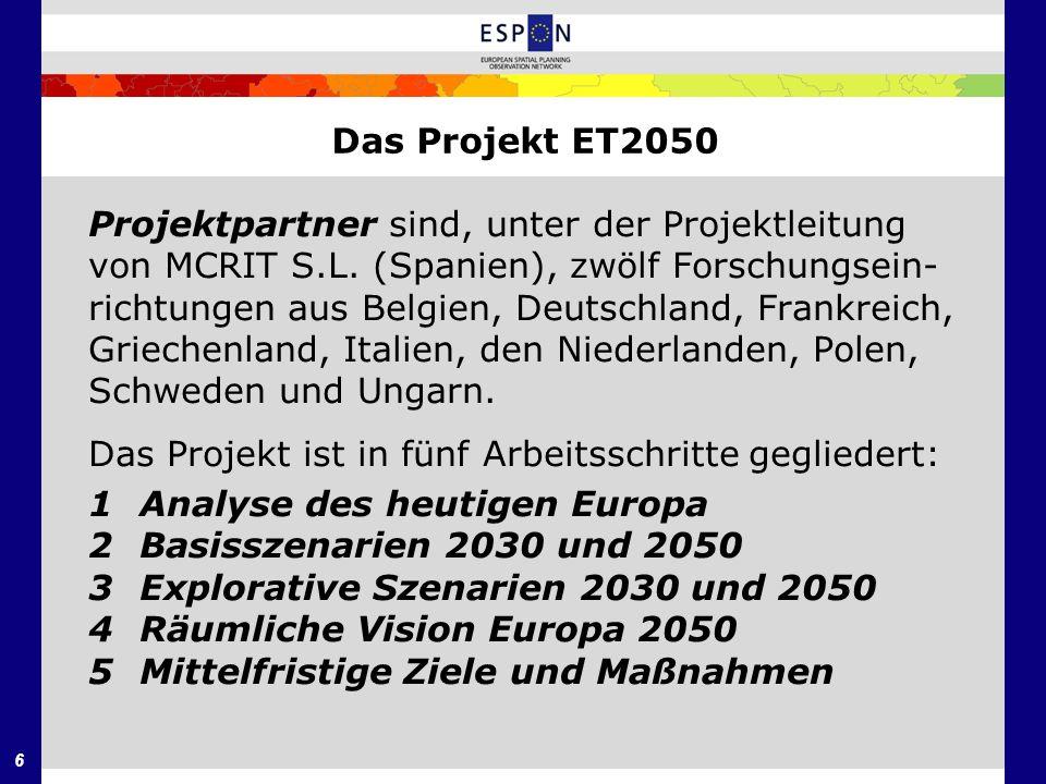 Das Projekt ET2050 Projektpartner sind, unter der Projektleitung. von MCRIT S.L. (Spanien), zwölf Forschungsein-