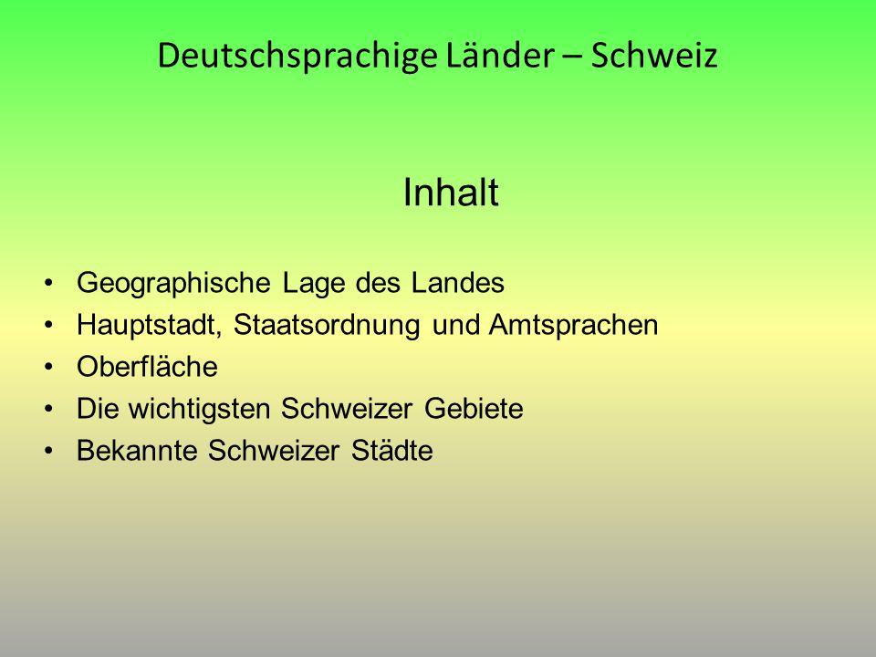Deutschsprachige Länder – Schweiz