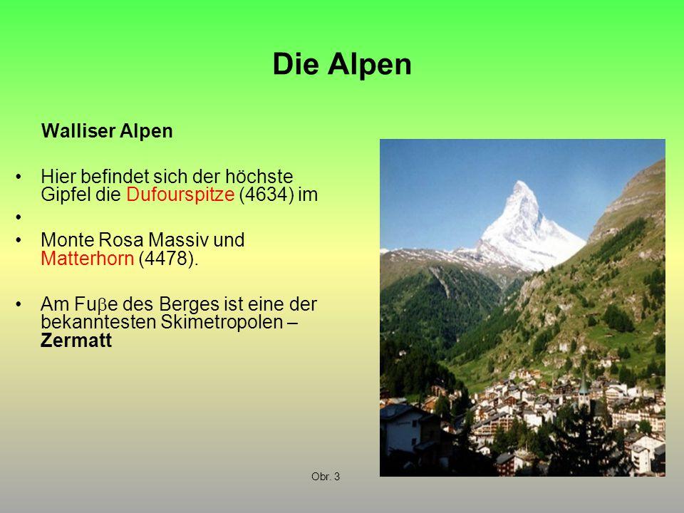 Die Alpen Walliser Alpen