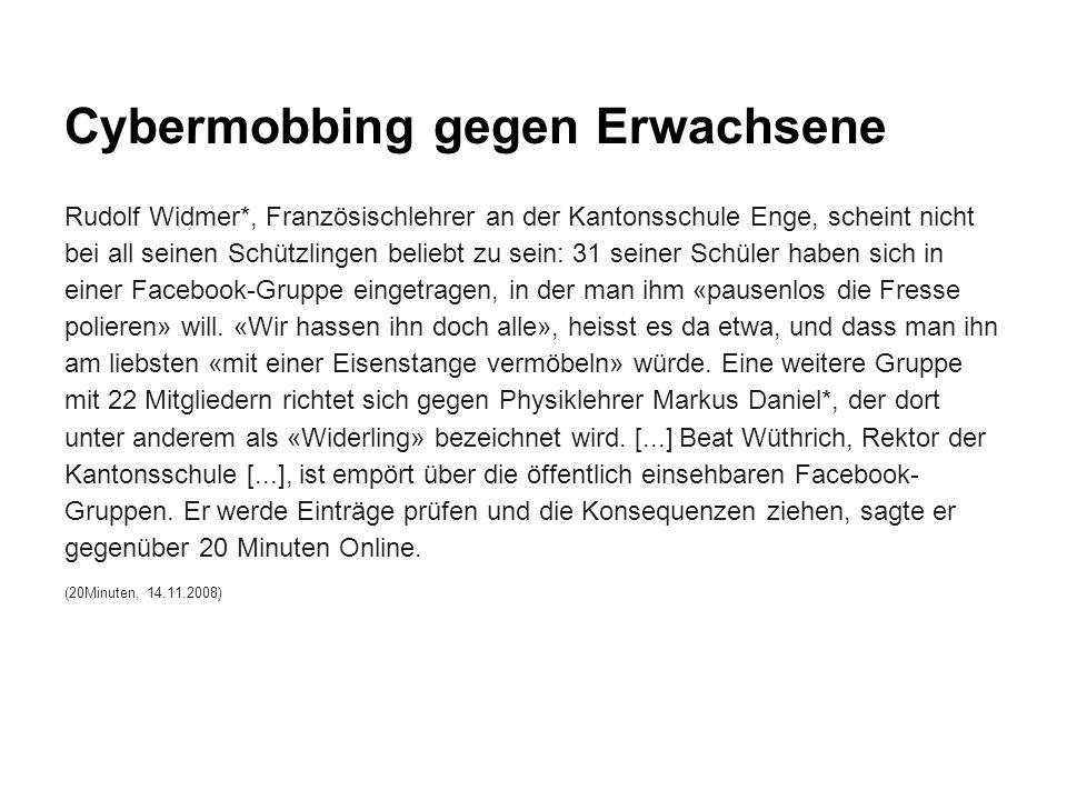 Cybermobbing gegen Erwachsene