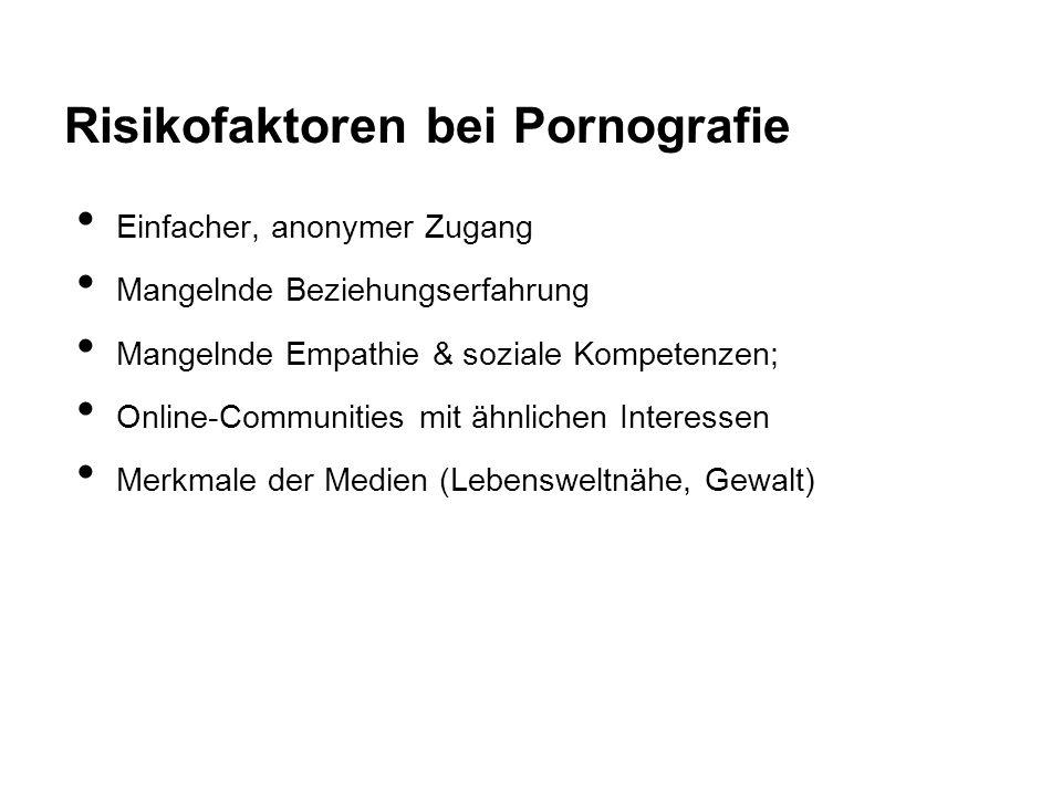 Risikofaktoren bei Pornografie