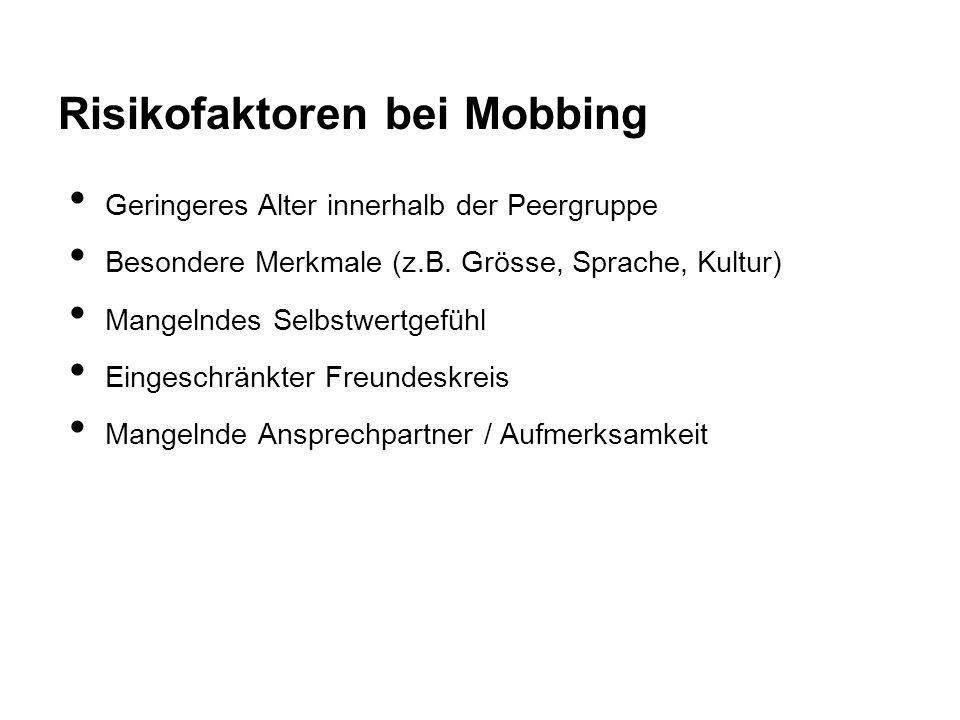 Risikofaktoren bei Mobbing
