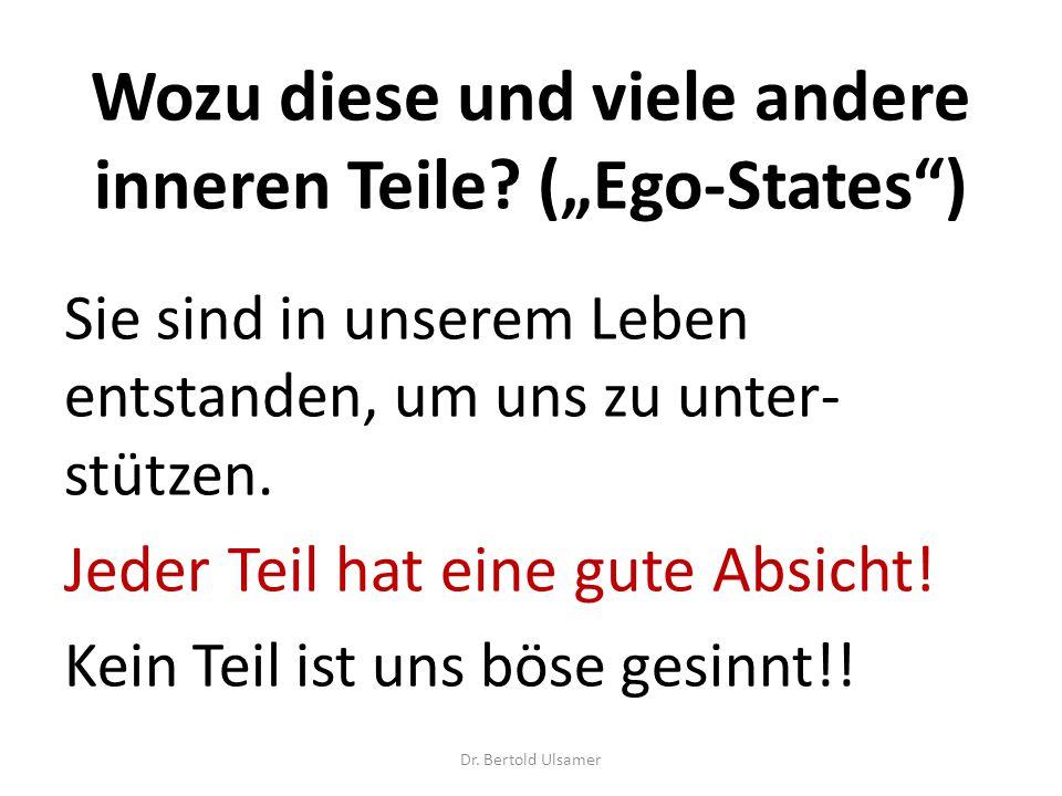 """Wozu diese und viele andere inneren Teile (""""Ego-States )"""
