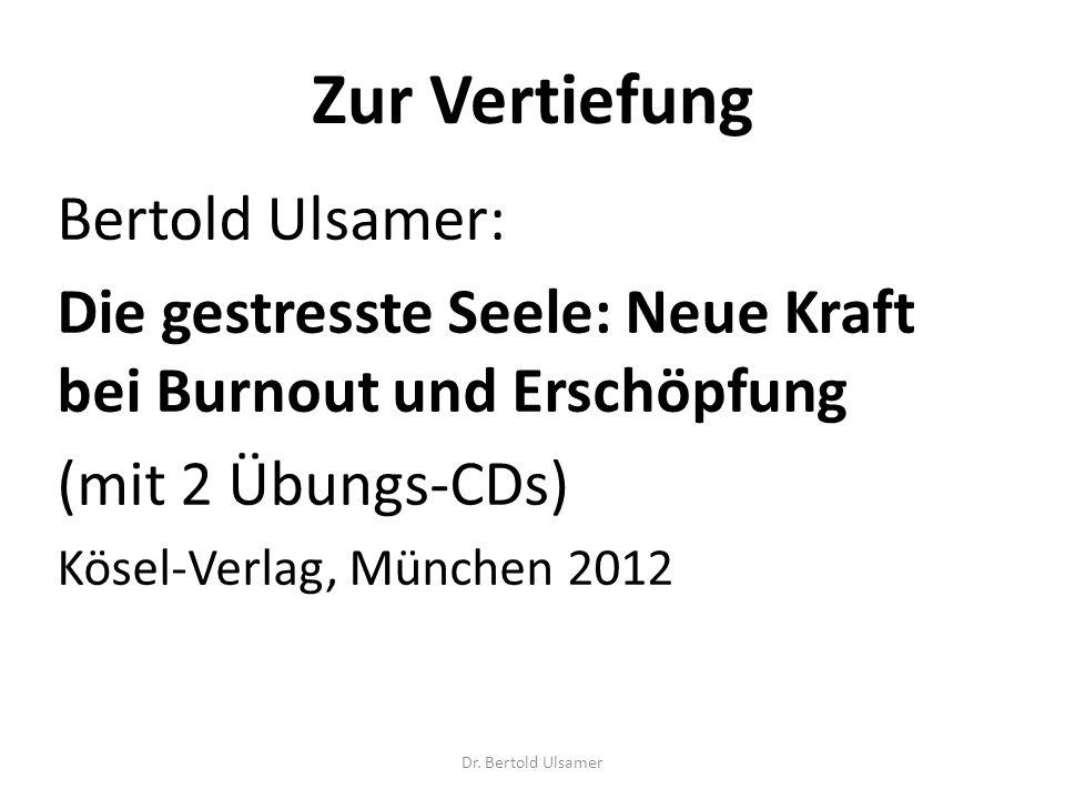 Zur Vertiefung Bertold Ulsamer: