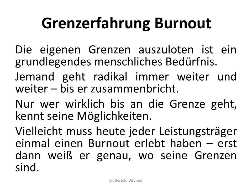Grenzerfahrung Burnout
