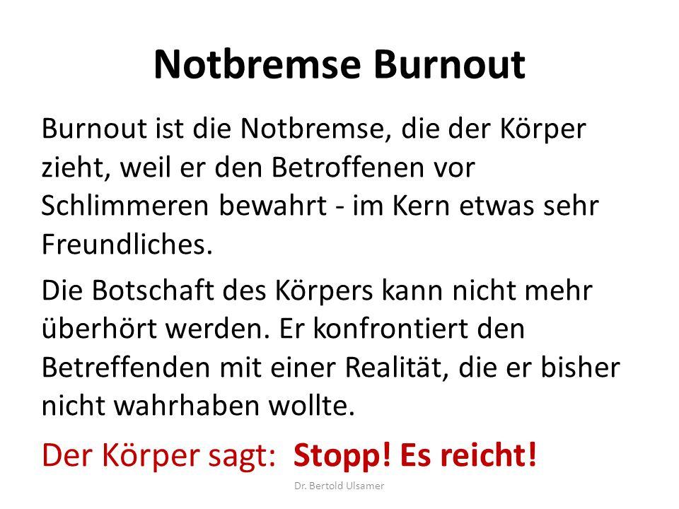 Notbremse Burnout Der Körper sagt: Stopp! Es reicht!