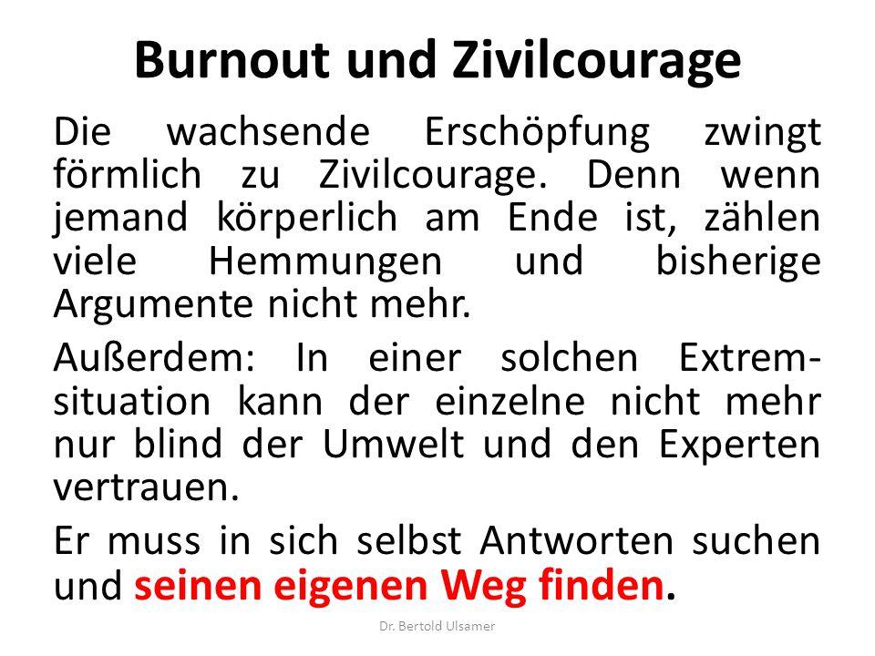 Burnout und Zivilcourage