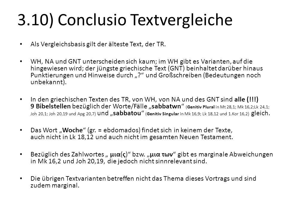 3.10) Conclusio Textvergleiche
