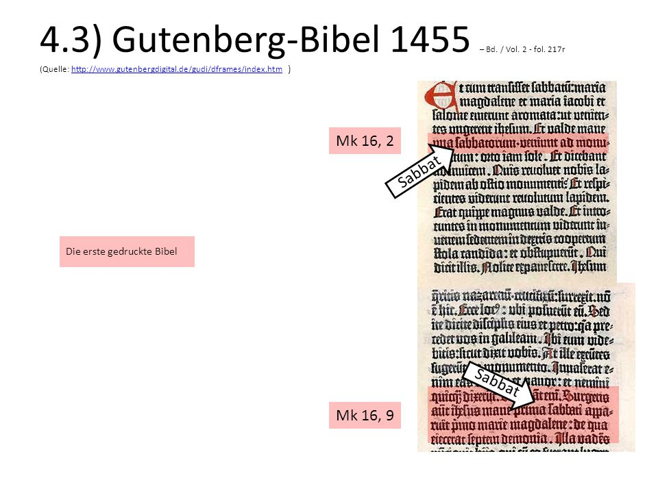 4. 3) Gutenberg-Bibel 1455 – Bd. / Vol. 2 - fol