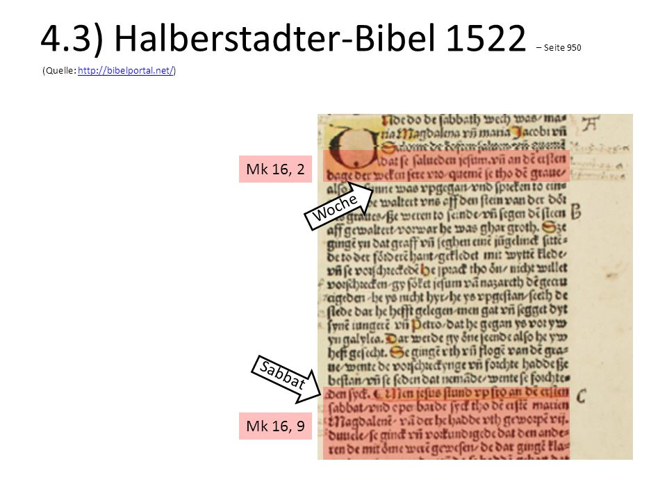 4. 3) Halberstadter-Bibel 1522 – Seite 950 (Quelle: http://bibelportal