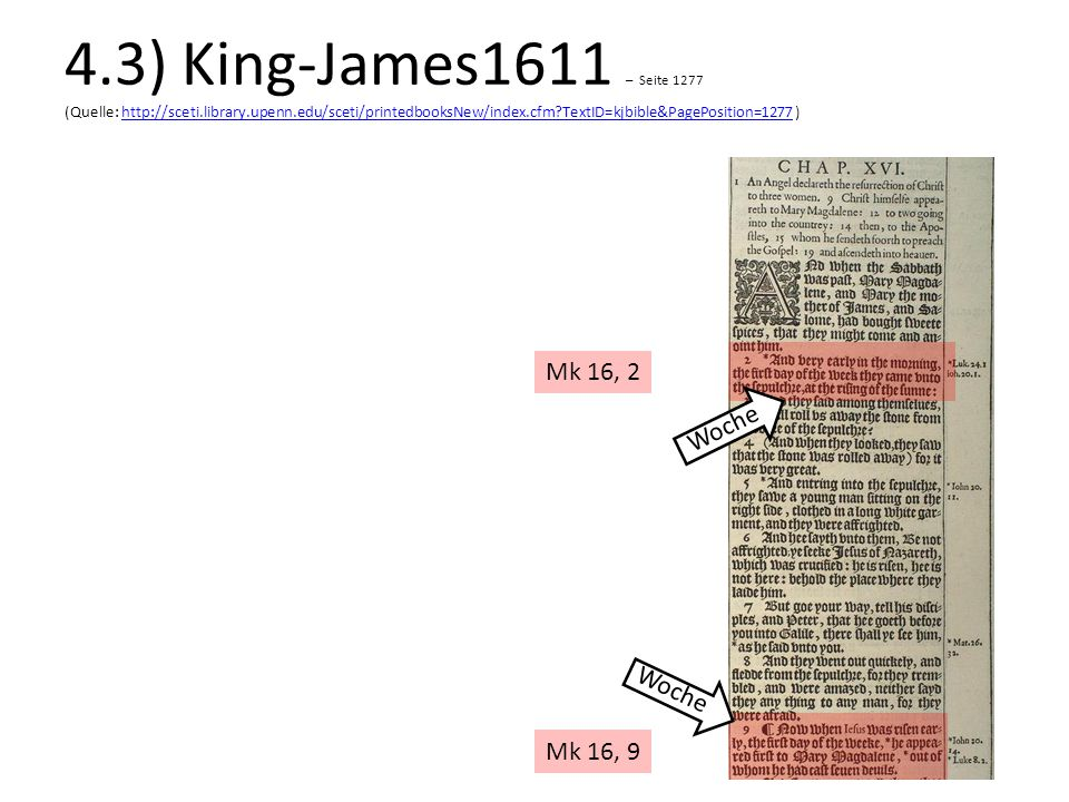 4.3) King-James1611 – Seite 1277 (Quelle: http://sceti.library.upenn.edu/sceti/printedbooksNew/index.cfm TextID=kjbible&PagePosition=1277 )