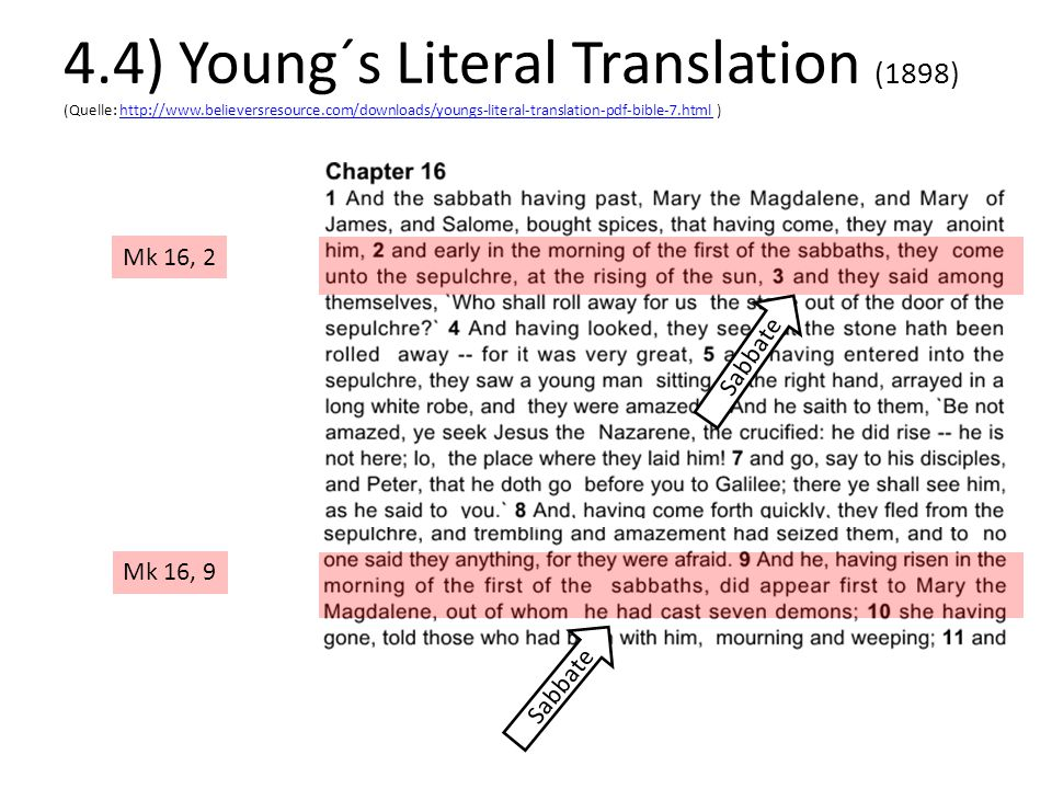 4. 4) Young´s Literal Translation (1898) (Quelle: http://www
