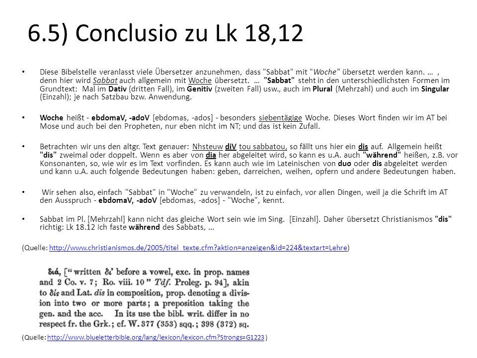 6.5) Conclusio zu Lk 18,12