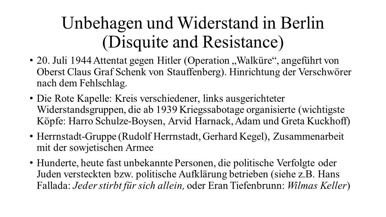 Unbehagen und Widerstand in Berlin (Disquite and Resistance)