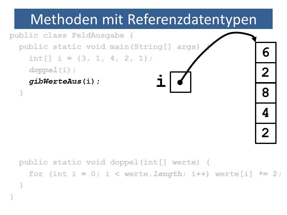 Methoden mit Referenzdatentypen