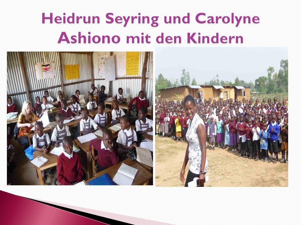 Heidrun Seyring und Carolyne Ashiono mit den Kindern