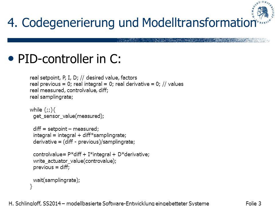 4. Codegenerierung und Modelltransformation