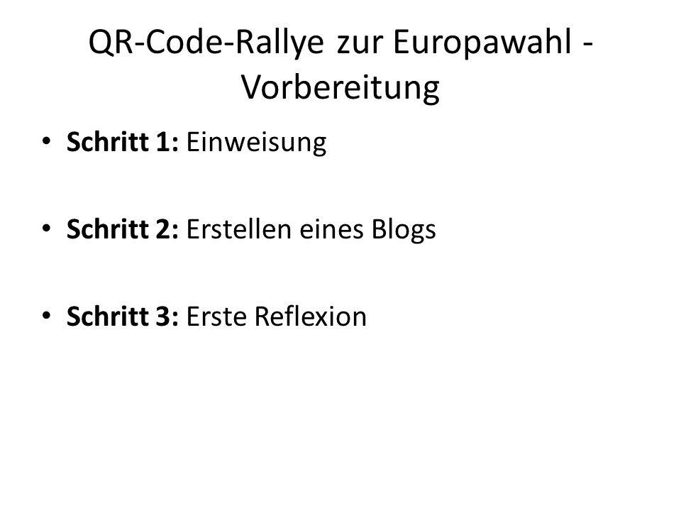QR-Code-Rallye zur Europawahl - Vorbereitung