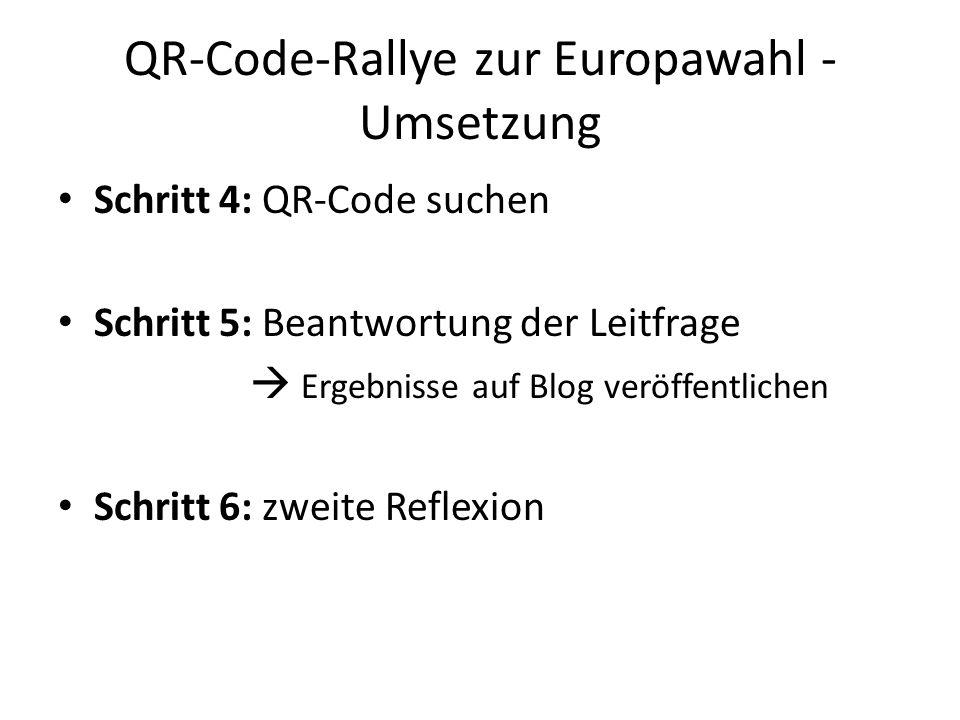 QR-Code-Rallye zur Europawahl - Umsetzung