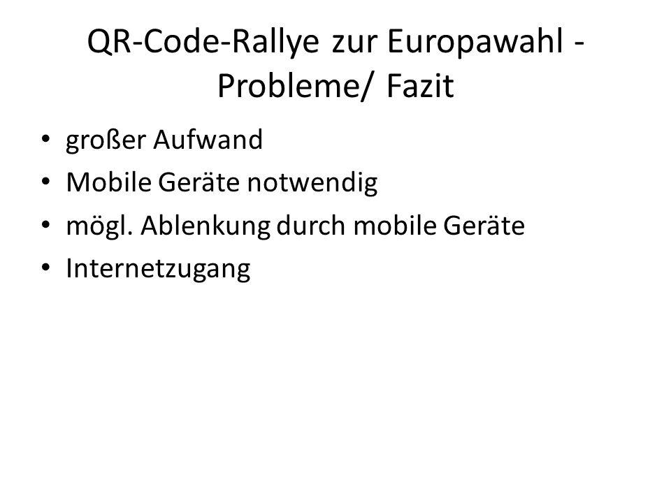 QR-Code-Rallye zur Europawahl - Probleme/ Fazit