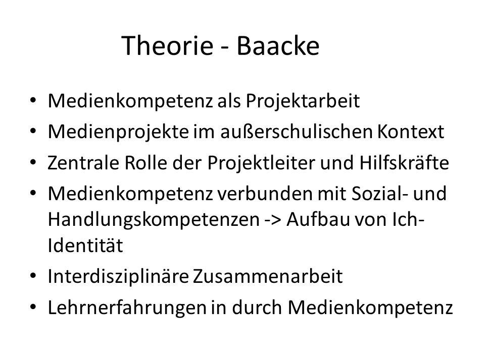 Theorie - Baacke Medienkompetenz als Projektarbeit