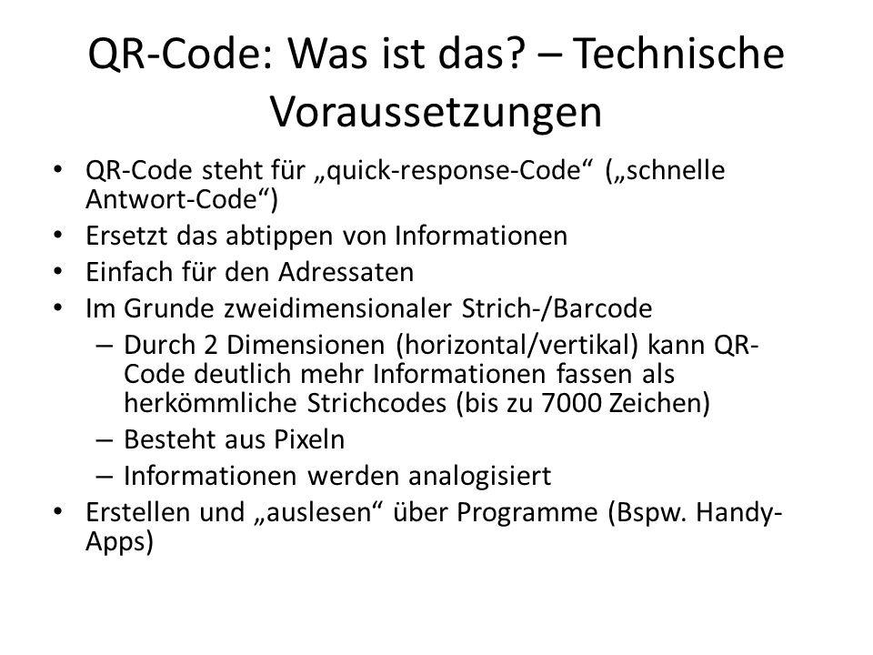 QR-Code: Was ist das – Technische Voraussetzungen